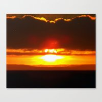 sunset Canvas Prints featuring Sunset by Aaron Carberry