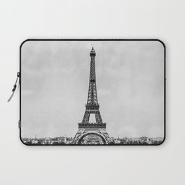 Eiffel tower in B&W with painterly effect Laptop Sleeve