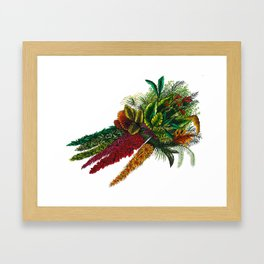 Tropical Carrots Framed Art Print