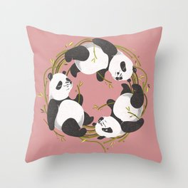 Panda dreams Throw Pillow