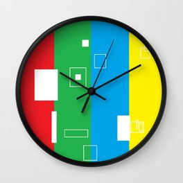 Simple Color Primary Colors Wall Clock
