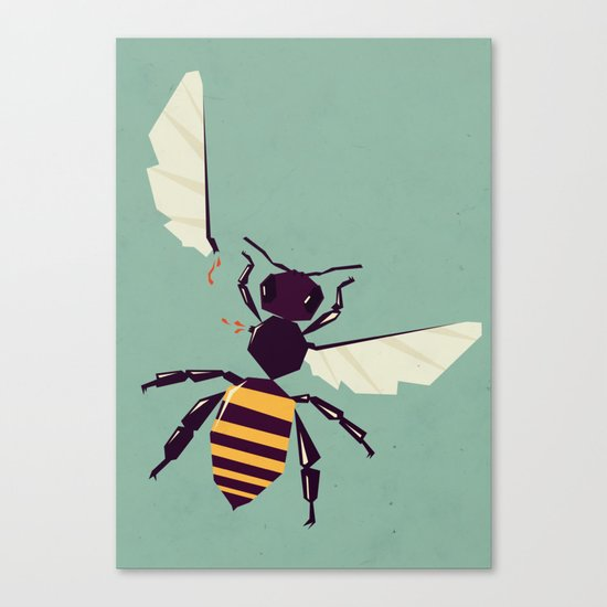 H is for honey bee  Canvas Print