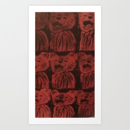 Chuppa Red Art Print