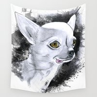 chihuahua Wall Tapestries featuring Chihuahua by kitara