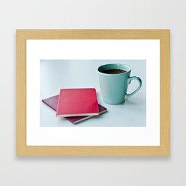 Notebooks & Coffee Framed Art Print