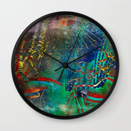 Egyptian wall III Wall Clock