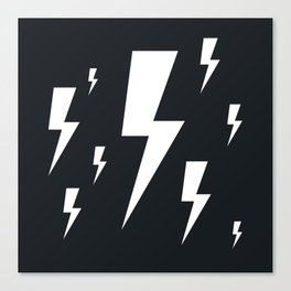 Lightning bolts Canvas Print