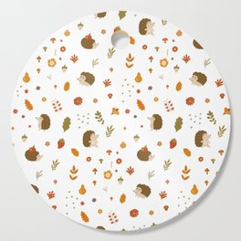 children hedgehog pattern, forest design Cutting Board