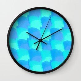Bluesy Quilt Wall Clock