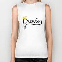 crowley Biker Tanks featuring I'm Crowley by forgottenLexi