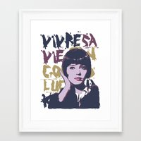 godard Framed Art Prints featuring Vivre sa vie by Ruben Pino