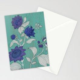 Folk Flower's Branch Stationery Cards