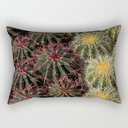 Arizona Desert Cactus Up Close Rectangular Pillow