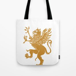 Gold Griffin Mythical Golden Eagle Bird Tote Bag