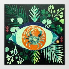 Third Eye Zodiac, Cancer Canvas Print