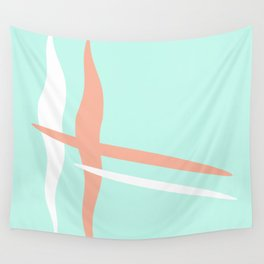 Turquoise & Coral (2) Wall Tapestry