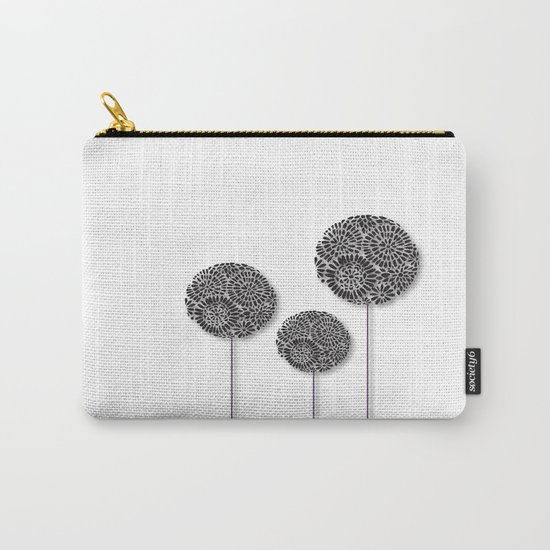 Black Dandelion Carry-All Pouch
