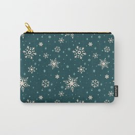 Snowflake Flurries Carry-All Pouch