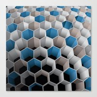 honeycomb Canvas Prints featuring Honeycomb by amanvel