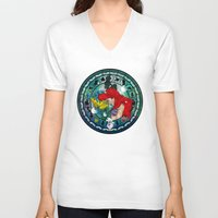 ariel V-neck T-shirts featuring Ariel by Mazuki Arts