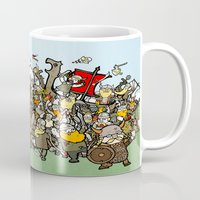 vikings Mugs featuring Attack of the Vikings!  by brittonandbaer