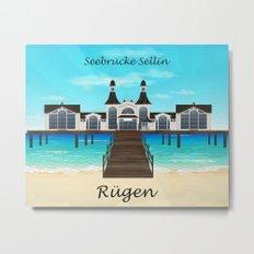Seebrücke Sellin Metal Print