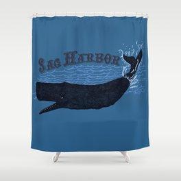 Sag Harbor Whale Shower Curtain