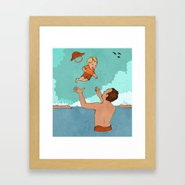 Father and Son at Sea Framed Art Print
