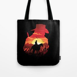 horse sunset Tote Bag