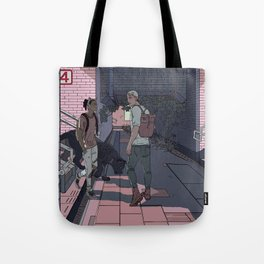Subway Station Meetup Tote Bag