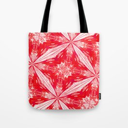 Tropical Red and White Fashion Tote Bag
