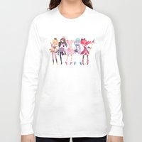 madoka Long Sleeve T-shirts featuring Madoka by sarlisart