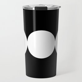 Triple Goddess Symbol – Divine Feminine – Maiden, Mother, Crone - White on Black Travel Mug