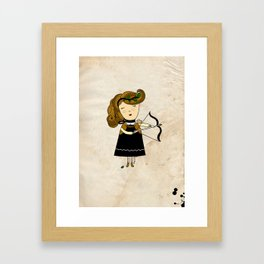 Sagittarius Girl Framed Art Print