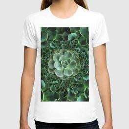 ORNATE JADE & DARK GREEN SUCCULENT  GARDEN T-shirt