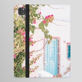 Santorini Greece Mamma Mia Pink House Travel Photography iPad Folio Case