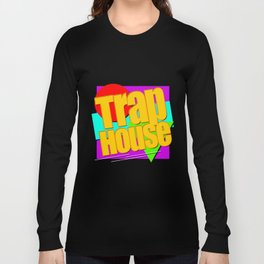 Trap House Square Logo Long Sleeve T-shirt
