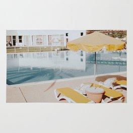 vintage summer poolside Rug