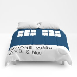 TARDIS Blue Pantone Comforters
