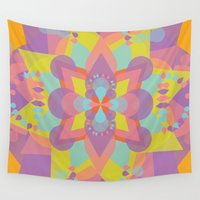 chakra Wall Tapestries featuring Ajna Chakra by anabra