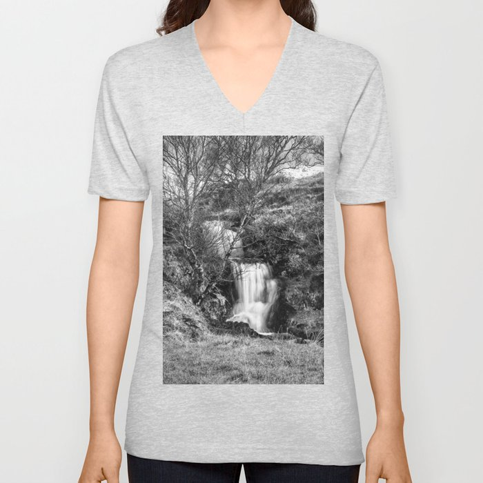 Ardvreck Castle Waterfall Unisex V-Neck