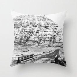 Mountain bridge Throw Pillow