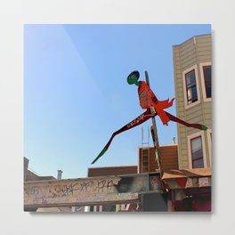 A Flying Leap Metal Print