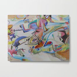 inspiration from Kandinsky . illustration . Metal Print