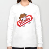 plain Long Sleeve T-shirts featuring NINDO-plain by DarkDarren