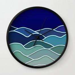 Minimal Landscape 2 Wall Clock