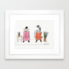 looking for the answers Framed Art Print