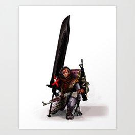 Modern Warrior Art Print