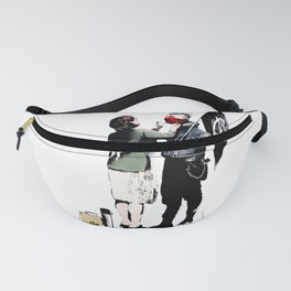 Banksy, Anarchist Punk And His Mother Artwork, Posters, Prints, Bags, Tshirts, Men, Women, Kids Fanny Pack