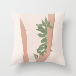 Holding on to a Branch Throw Pillow